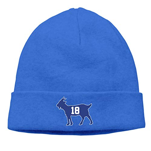 Moore Me Men's Beanie Hats Blue Indianapolis Manning Goat Slouchy Beanie for Women (Summer Thin) ()
