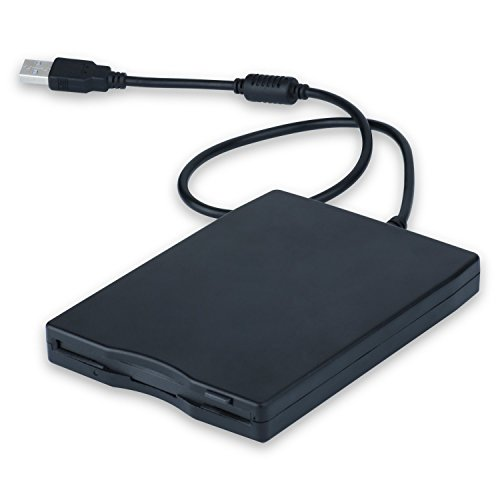 MthsTec USB 2.0 External Floppy Disk Drive Portable Reader for Laptop PC MAC Windows 10 Windows 8 7 VISTA/XP by MthsTec