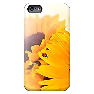 Design phone skins Pretty Iphone Cases Covers covers iphone 5C - sunflower ladybug fun