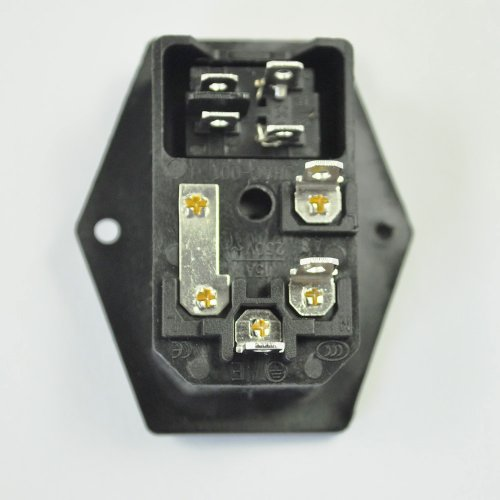 3 pin iec320 c14 inlet module plug switch male power socket 10a 3 pin iec320 c14 inlet module plug switch male power socket 10a 250v amazon co uk diy tools
