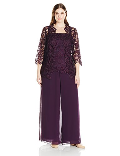 Emma Street Women S Plus Size Lace Pant Suit Combo Mother Of The
