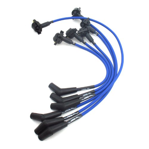 JBA W06349 Blue Ignition Wire for Ranger/Explorer 4.0L OHV ()