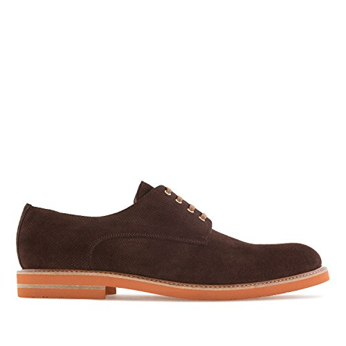 Andres Machado.6188.oxford Schoenen In Split Leather.made In Spanje.mens Grote Maten: Us M13 Tot M16 Bruin 1 Split Leer