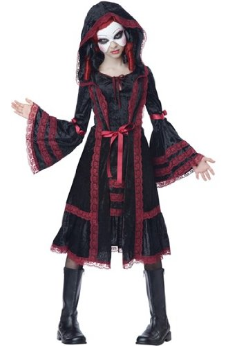 California Costumes Gothic Doll Tween Costume, X-Large (Goth Halloween Costumes For Kids)