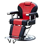 Hydraulic Salon Recline Barber Chair Beauty Spa Shampoo Equipment Black/Red