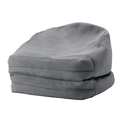 Puf Ikea, modelo Bussan, cómodo, color naranja, ideal para ...