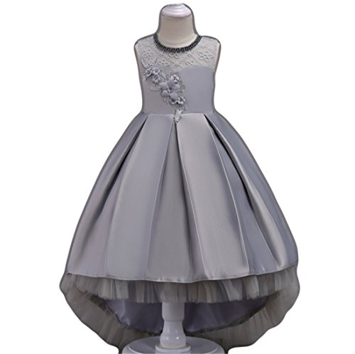 450361c9adbbf Big Girls Dresses Teen Princess Party Birthday Prom Gowns Embroidered  Sleeveless Knee Length 7-16 Age of 10 ten Big Girl Dresses Size 10-12 Lace  Tulle ...