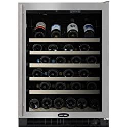 "Marvel 61WCMBBOLR 24"" Wine Cellar with 45-Bottle Capacity Including Magnum Bottles Right-Hinged Door 4 Slide Out Racks Inclined Display Rack Display Lighting Electronic Controls and Door"