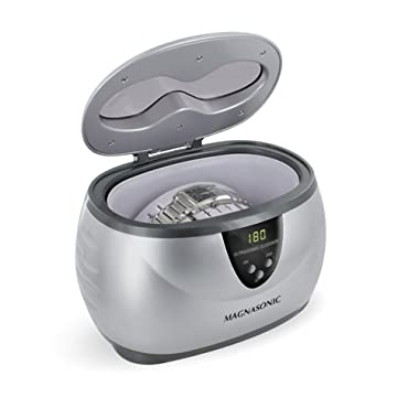 Magnasonic Professional Ultrasonic Jewelry Cleaner, Digital Timer, Cleans Eyeglasses, Rings, Coins