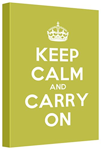 Keep Calm and Carry On Stretched Grass Green 12 L X 18 W