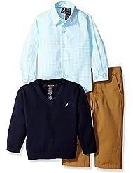 Nautica Baby Boys' 3 Piece Woven Sweater Set