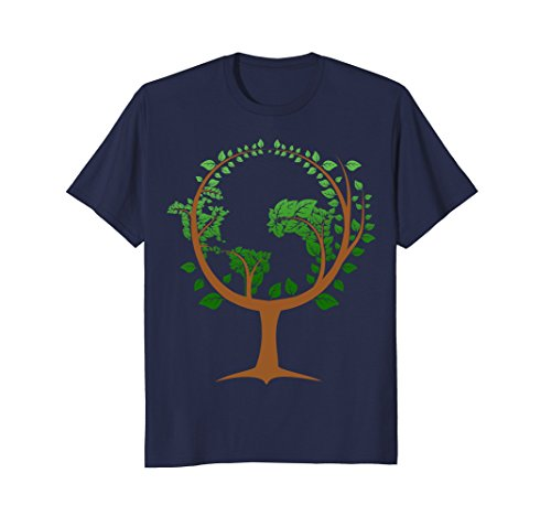 Mens Happy Earth Day T shirt Gift, Save The Earth Shirt, Go Green Large Navy