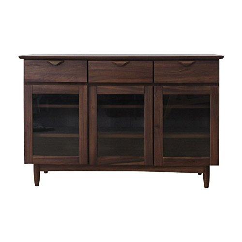 ISSEIKI サイドボード ミディアムブラウン 幅120㎝ 木製家具 VELOCE 120 SB (W-PU) B00RB1T0UW