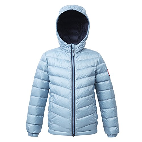 Price comparison product image Rokka&Rolla Girls' Ultra Lightweight Hooded Packable Puffer Down Jacket (M (8), Blue Fog)