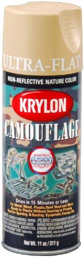 Krylon K04295000 Camouflage With Fusion For Plastic Paint Technology Aerosol Spray Paint, 11-Ounce, Camouflage Sand (Sand Camo)