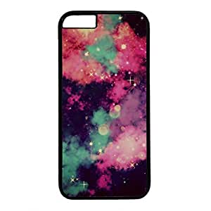 Unique Design Case for iphone 6,Fashion Black Plastic Case Back Cover for iPhone 6 with Cool Galaxy