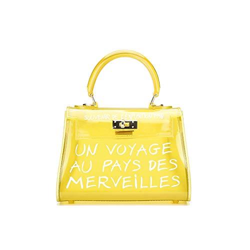 Poxas Top-handle PVC Women Shoulder Bags Jelly Candy Color Women Crossbody Bag (Large, - Bag Top Medium