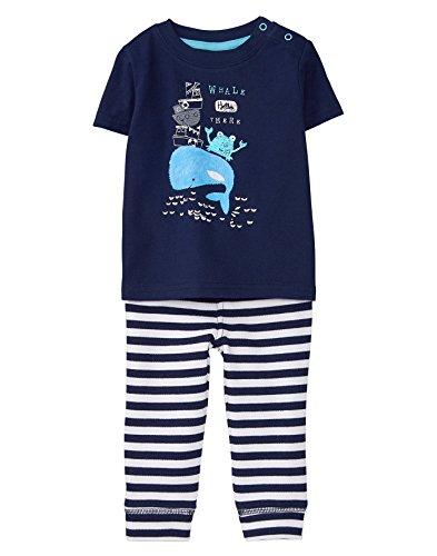 Gymboree Baby Boy Short Sleeve Set, Whale Blue Stripe, 6-12 mo from Gymboree