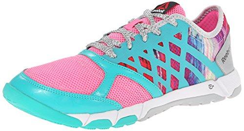 Reebok Women's One Trainer 2.0 GR Training Shoe, Electro Pink/Timeless Teal/Metallic Silver/White/Whisper Blue, 10 M US