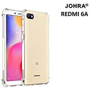 Johra® Protective Soft Transparent Shockproof Hybrid Protection Back Case Cover for Xiaomi Mi Redmi 6A