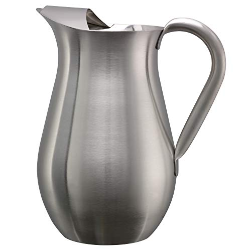 Service Ideas WPB2BS Pitcher Without Guard, Bell Shaped, Brushed, 2 L (Service Ideas)