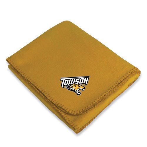 Towson Gold Arctic Fleece Blanket 'Official Logo' by CollegeFanGear