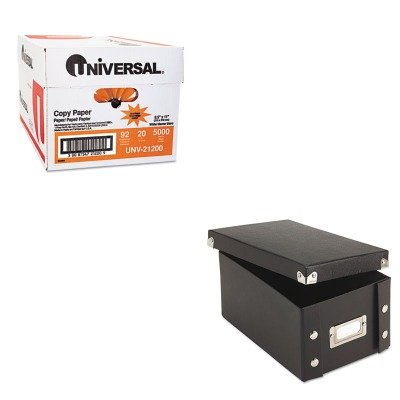 KITIDESNS01577UNV21200 - Value Kit - Snap-n-store Snap 'N Store Collapsible Index Card File Box Holds 1 (IDESNS01577) and Universal Copy Paper (UNV21200)