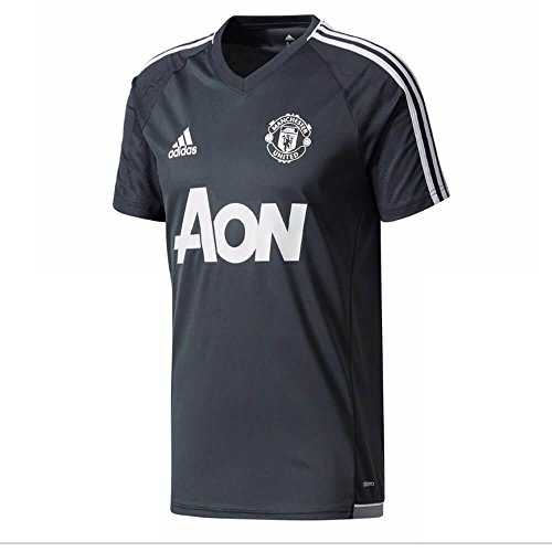 adidas Manchester United Training Jersey 2017/18 (Dark Grey)-X-Large Adults