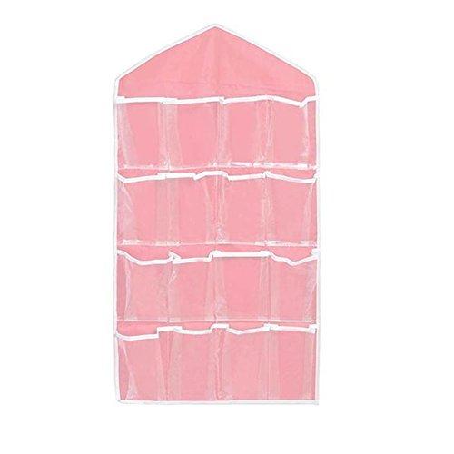 Kitchen Bathroom Storage Hanging Rack Bag (Pink) - 9