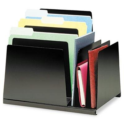 Steelmaster - Slanted Combination File Eight Sections Steel 15 1/4 X 11 X 12 3/4 Black ''Product Category: Desk Accessories & Workspace Organizers/Sorters''