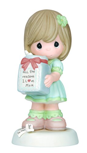 Precious Moments, All The Reasons I Love Mom, Girl, Bisque Porcelain Figurine, 144001 ()