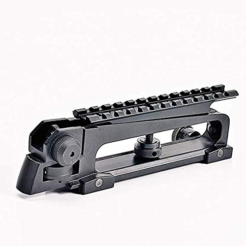 Gexgune Tactical 223 Detachable Carry Handle M4 M16 AR15 Scope Mount w/Dual Aperture A2 Rear Sight Picatinny Rail 20mm Standard Top Rail Base ()