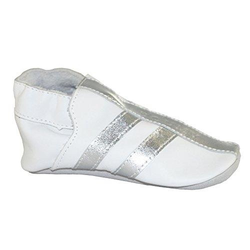 blanc argenté 2116 Boumy Bébé Souples Pour Chaussures Xw8qg