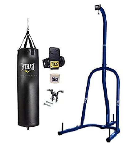 3a99f9c7c04 Amazon.com   Everlast Punching Bag Everlast Heavy Bag Kit with Stand ...