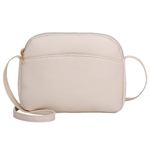 Bag Crossbody Leather Lavany Cluthes Women Handbag Litchi PU Shoulder Bag Mini Beige AORwY0wqI