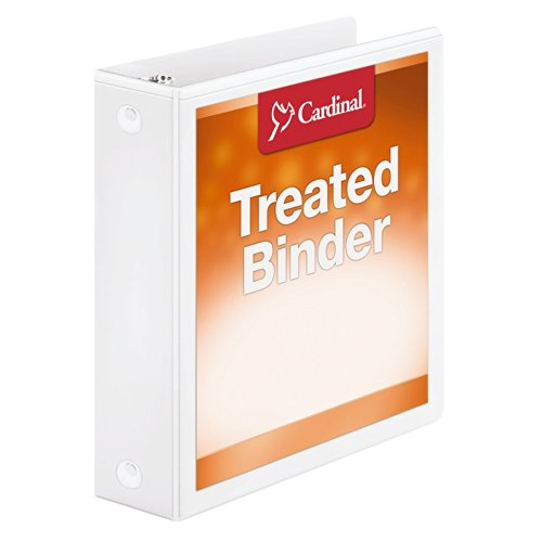 Cardinal Treated Binder ClearVue Locking Round Ring, 2 Inch, White (32220)