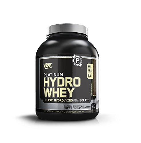 Optimum Nutrition Platinum Hydrowhey Protein Powder, 100% Hydrolyzed Whey Protein Powder, Flavor: Turbo Chocolate, 3.5 Pounds