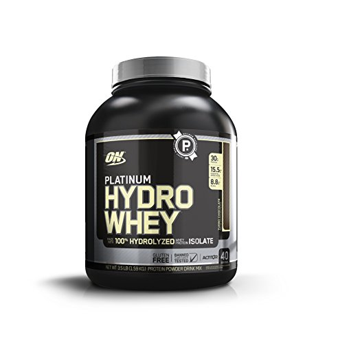Optimum Nutrition Platinum Hydrowhey Protein Powder  100  Hydrolyzed Whey Protein Isolate Powder  Flavor  Turbo Chocolate  3 5 Pounds