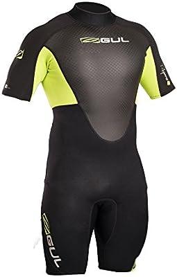 Easy Stretch seam construction FLATLOCK Gul Response 3//2MM Flatlock Back Zip Wetsuit Black Lime