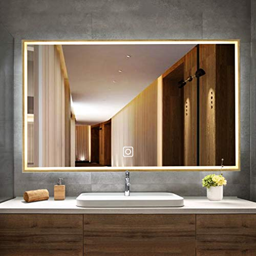 Wall Mounted LED Bathroom Mirror | Makeup Mirror with LED Light Over -