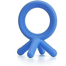 Comotomo Silicone Baby Teether, Blue