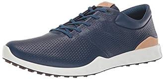 ECCO Men's S-Lite Golf Shoe, Poseidon Yak Leather, 43 M EU (9-9.5 US)