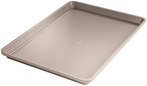 """Oxo good grips non-stick pro 2-piece sheet pan set 4 our set includes one half sheet pan (13"""" x 18"""") and 1 quarter sheet pan (9"""" x 13"""") commercial-grade, heavy-gauge aluminized steel provides fast, even heat distribution and lasting durability & stability swiss-engineered ptfe, ceramic-reinforced, two layer, commercial-grade coating provides the ultimate non-stick food release and is scratch-, stain-, corrosion- and abrasion-resistant"""