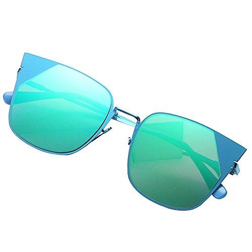 Bleu Aolvo vert Bleu De Vert Femme Soleil Lunette rqY7Ur