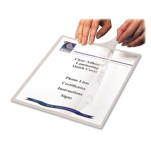 Wholesale CASE of 10 - C-Line Cleer-Adheer Laminated Film Covers-Laminating Quick Covers, 8-1/2