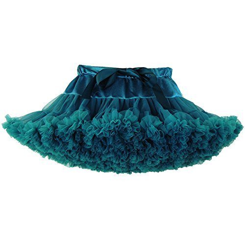 Luckyauction Toddler Girl's Dance Tutu Skirts Layered Ballerina Princess Tutu Skirt,Peacock Green XS