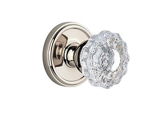 - Grandeur Georgetown Rosette with Versailles Knob, Single Dummy, Polished Nickel