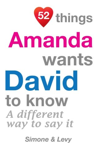52 Things Amanda Wants David To Know: A Different Way To Say It (52 For You) PDF