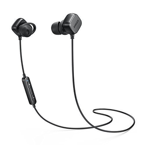 Wireless Headphones, Anker SoundBuds Tag In-Ear Bluetooth Earbuds Smart Magnetic Headphones with aptX Technology, CVC 6.0 Noise Cancellation, 6 Hour Playtime — Bluetooth 4.1 Headset with Mic (Universal Earbuds High Fidelity)