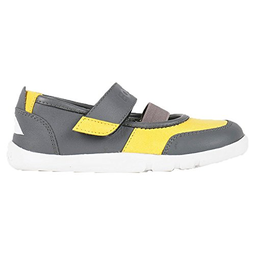 Price comparison product image Bobux Kids Girl's I-Walk Street Vitra (Toddler/Little Kid) Yellow/Gray Sneaker 27 (US 10 Toddler) M